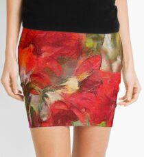 Red Lilies Mini Skirt