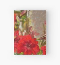 Red Lilies Hardcover Journal
