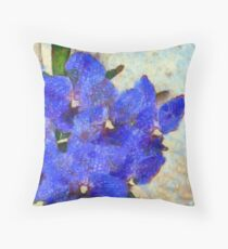 Vandas in Bloom Throw Pillow