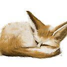 sleeping fennec fox by onceuponatimes
