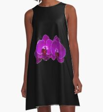 Fuchsia Phalaenopsis A-Line Dress