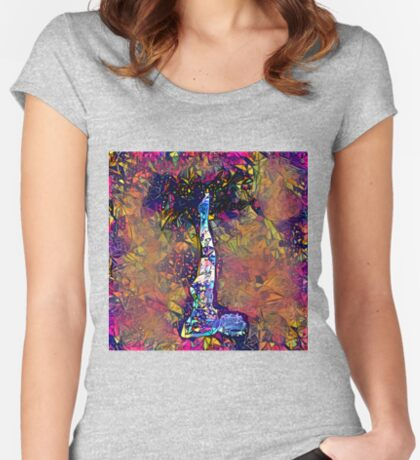 Abstract Feels Like Summer Fitted Scoop T-Shirt