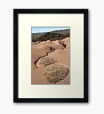 volcano landscape Framed Print