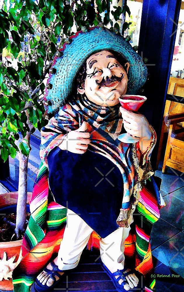 Pedrito enjoying his pomegranate margarita by photorolandi