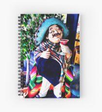 Pedrito enjoying his pomegranate margarita Spiral Notebook