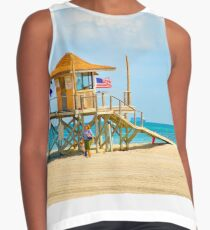 Mother and Daughter at the Beach Contrast Tank