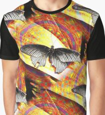 Psychedelic Butterfly Graphic T-Shirt
