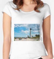 Lighthouse Beach Women's Fitted Scoop T-Shirt