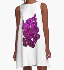Orchids #9 A-Line Dress