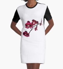 Orchids #8 Graphic T-Shirt Dress
