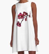 Orchids #8 A-Line Dress