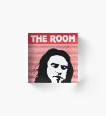 The Room Disaster Artist Tommy Wiseau Greg Sestero Acrylic Block
