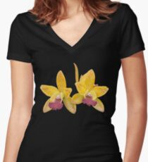 Orchids #6 Women's Fitted V-Neck T-Shirt