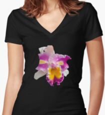 Orchids #5 Women's Fitted V-Neck T-Shirt