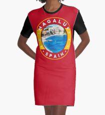 Magaluf Spain, tshirt, red bg Graphic T-Shirt Dress