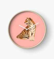 tigre roux Clock