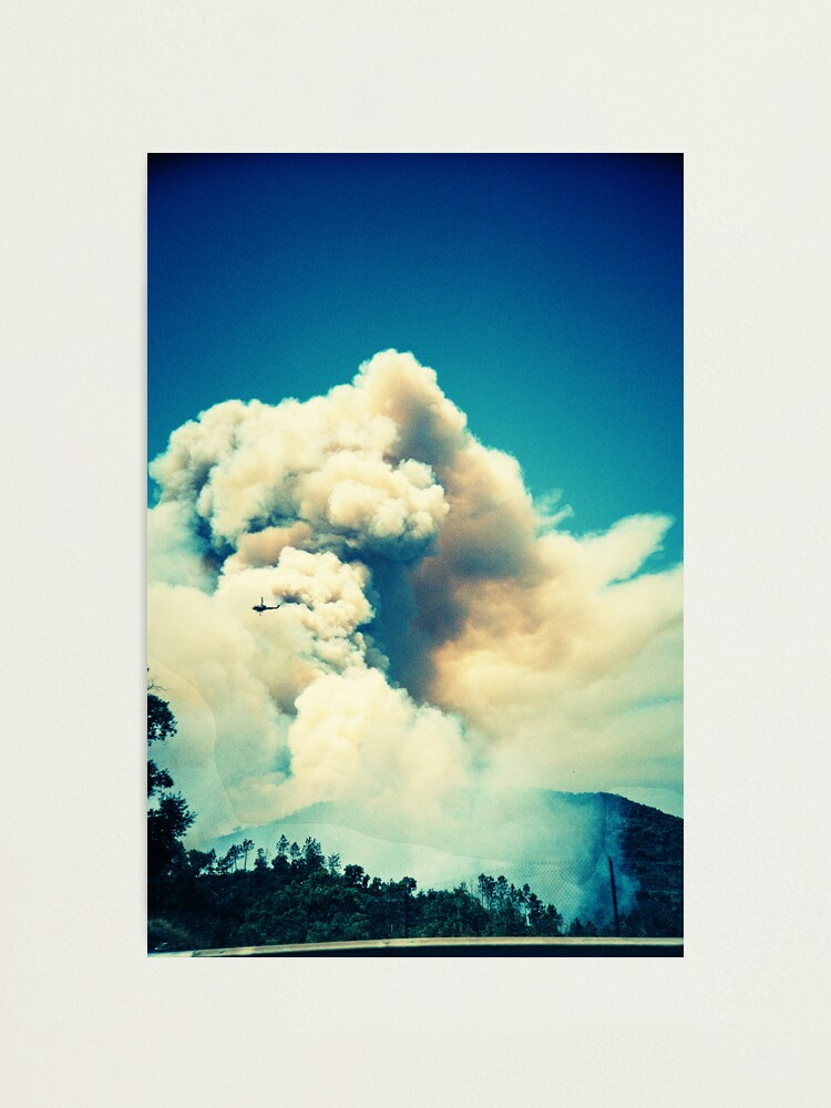 Alternate view of Forest Fire in Provence Photographic Print