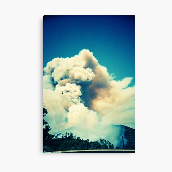Forest Fire in Provence Canvas Print