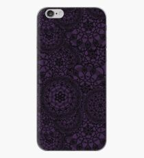 Delicate knitted lace of round doilies, seamless pattern iPhone Case