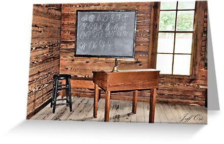 A Old Teachers School Desk by Jeff Ore