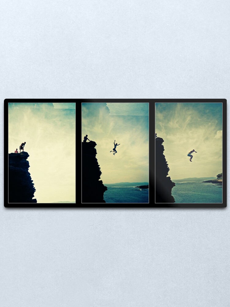 Alternate view of Cliffjump Sequence Metal Print