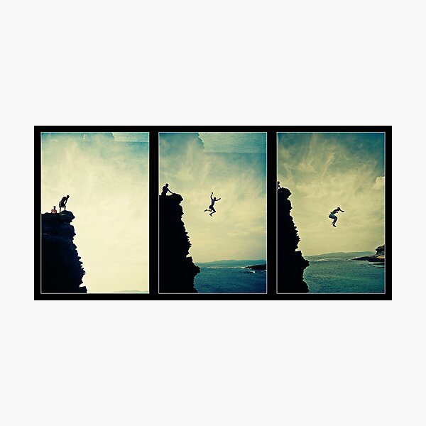 Cliffjump Sequence Photographic Print