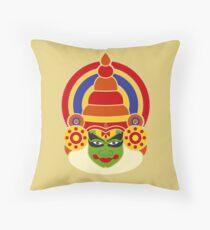Kathakali Dancer's Face Throw Pillow
