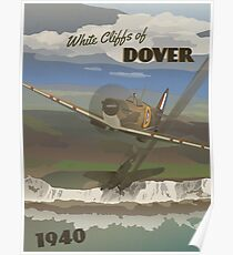 "Dover Cliffs 1940 ""Battle of Britain Travel Poster"" Poster"