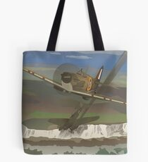 "Dover Cliffs 1940 ""Battle of Britain Travel Poster"" Tote Bag"