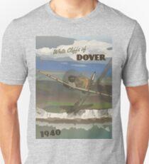 "Dover Cliffs 1940 ""Battle of Britain Travel Poster"" Unisex T-Shirt"
