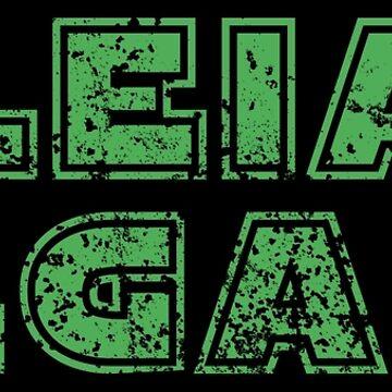 Leia Vegana - Funny Go Vegan Quote Gift by yeoys