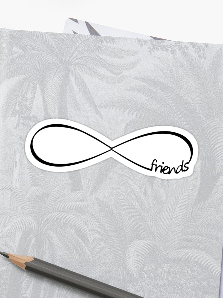 \'Lovely Infinity friends endless Love quotes gift\' Sticker by xsylx