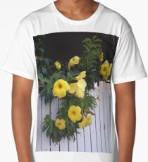 yellow flowers on the gatedoor Long T-Shirt