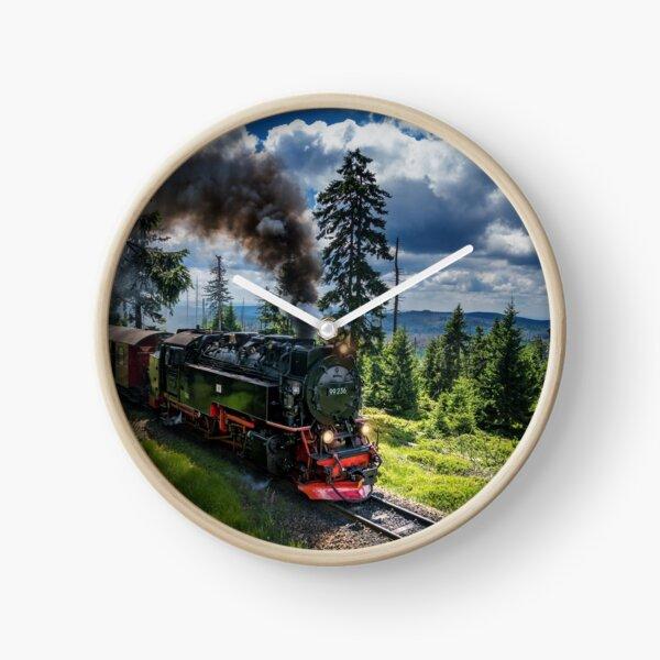 Steam locomotive - Harz narrow gauge railways (Germany) Clock