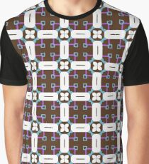 rectangles square retro seamless colorful repeat pattern Graphic T-Shirt