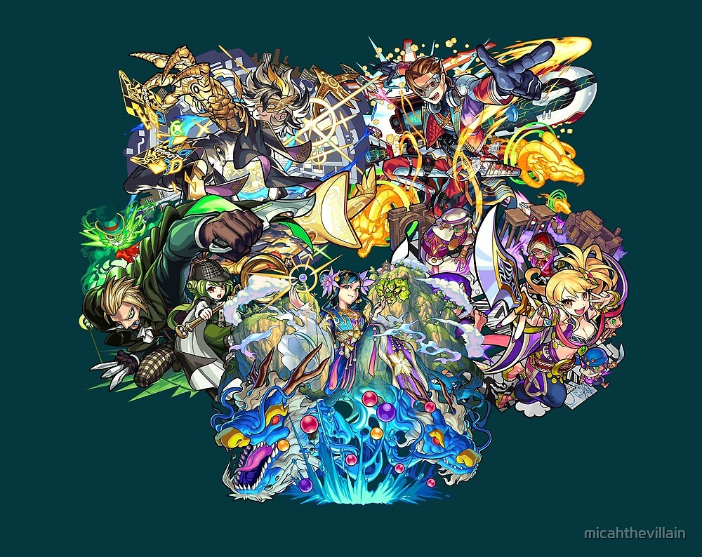 Monster Strike - 2nd Colossals by micahthevillain