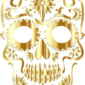 Skull in gold by lured