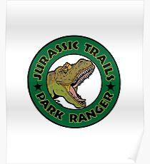 Jurassic Trails Park Ranger Design Poster