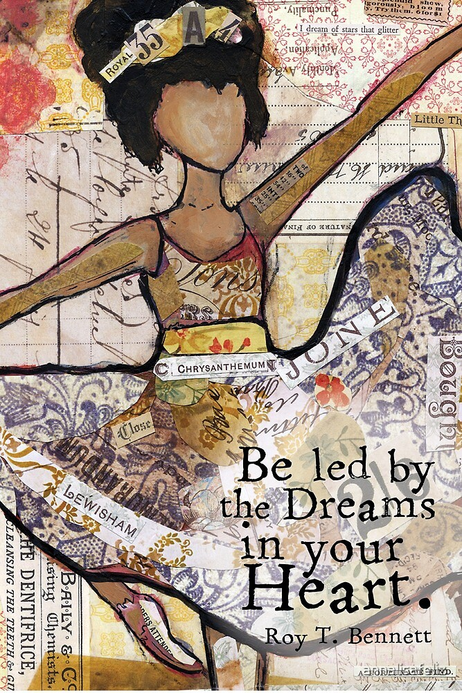 Be Led By Your Dreams Card by annalisafeliz