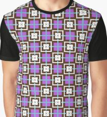shapes 60's sixties artwork seamless colorful repeat pattern Graphic T-Shirt