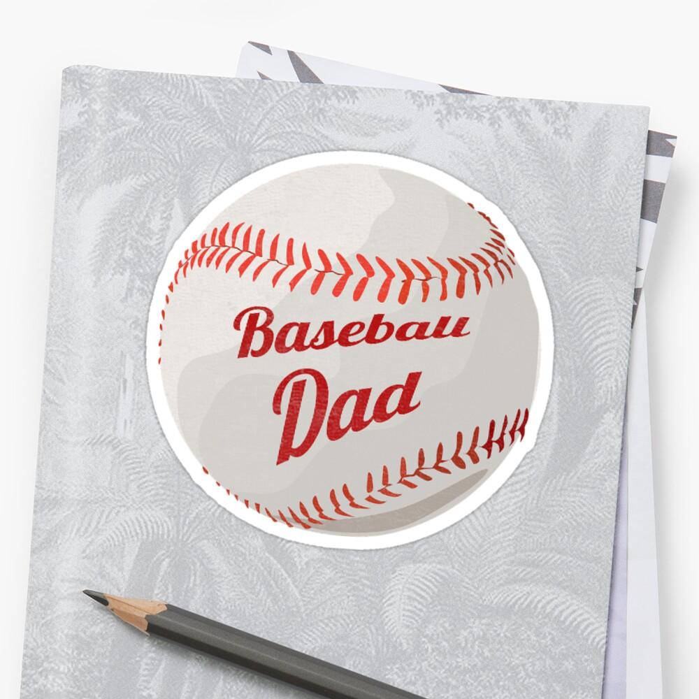 Baseball Design Textured Sticker - Baseball Dad by Oldskool0482