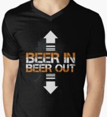Beer In Beer Out Funny Beer Lover Design Men's V-Neck T-Shirt