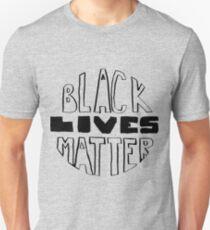 Schwarz lebt Materie Slim Fit T-Shirt