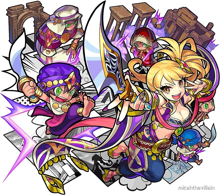Monster Strike - Canaan sticker by micahthevillain