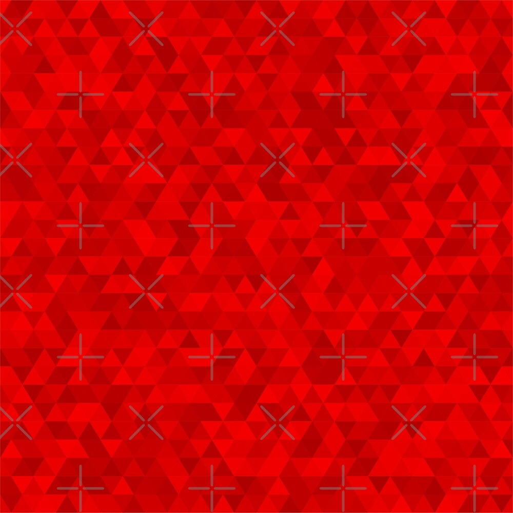 Red abstract polygonal pattern with colorful triangles by asnia
