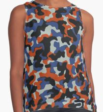 Berliner camouflage: hand drawn u-bahn seat pattern - Berlin Metro / Subway Sleeveless Top