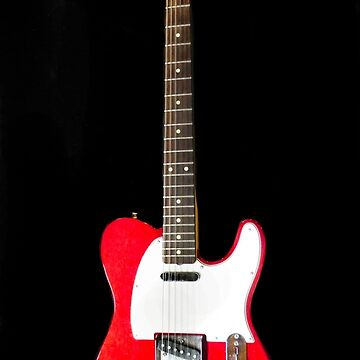 Upright Red Fender Telecaster by Langie