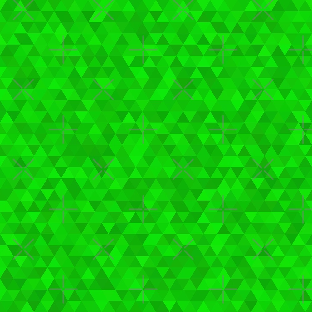 Green polygonal triangular shining background. Modern geometrical abstract seamless light pattern by asnia