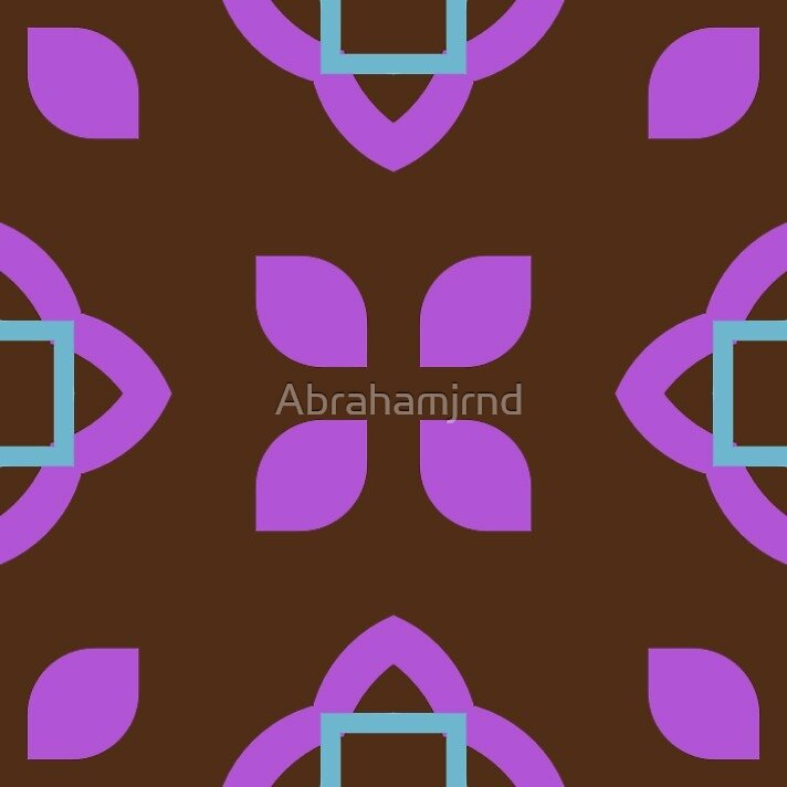 square style sixties seamless colorful repeat pattern by Abrahamjrnd