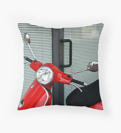 Red, Black and Grey Throw Pillow